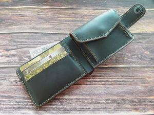 Шьем классическое портмоне из натуральной кожи. Ярмарка Мастеров - ручная работа, handmade.