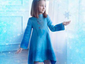 Результат блиц- конкурса  Лучший подарок -валяное платье Эльза Холодное Сердце! | Ярмарка Мастеров - ручная работа, handmade