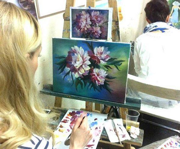 живопись, школа рисования, картина маслом, курс маслом