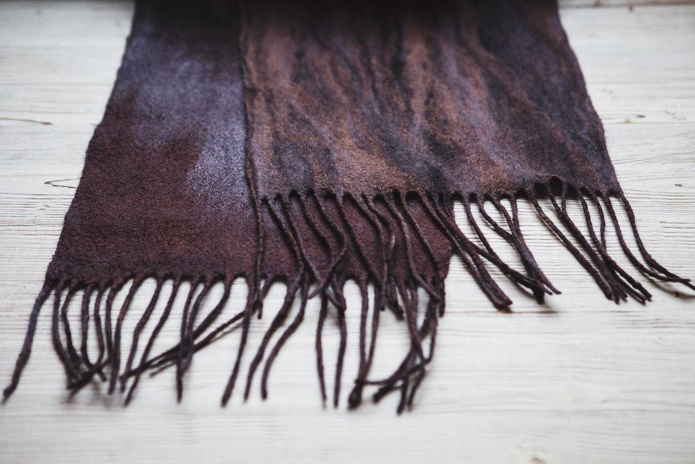 валяние из шерсти, валяние для начинающих, юлия левшина, шарф в подарок