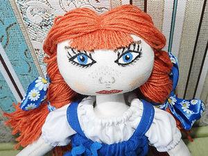 Делаем волосы из ниток для текстильной куколки. Ярмарка Мастеров - ручная работа, handmade.