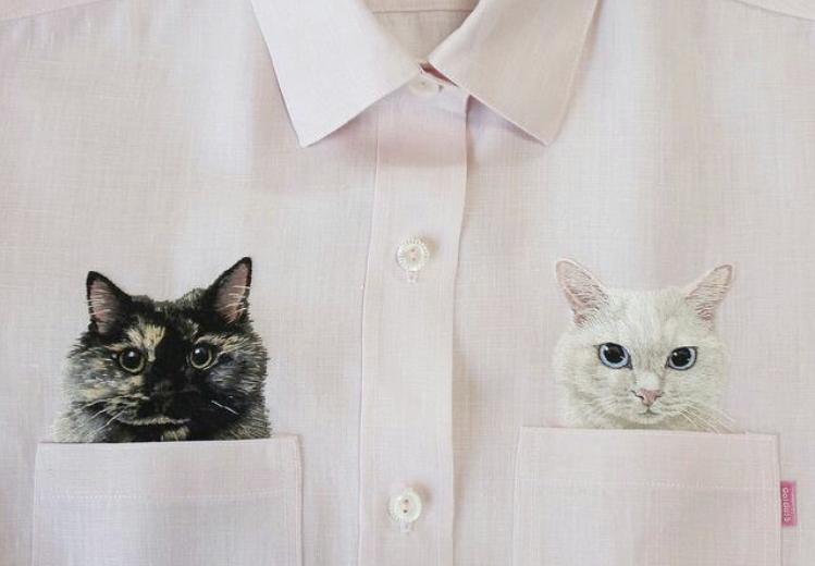 рубашка, вышивка лентами