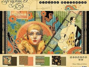 Коллекция   Graphic 45 —  Винтажный  Голливуд. Ярмарка Мастеров - ручная работа, handmade.