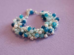 Создаем браслет-гроздь «Пена морская». Ярмарка Мастеров - ручная работа, handmade.