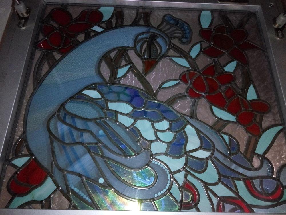 пленочный витраж, работа со стеклом