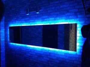 Создаем стильное зеркало с подсветкой своими руками. Ярмарка Мастеров - ручная работа, handmade.
