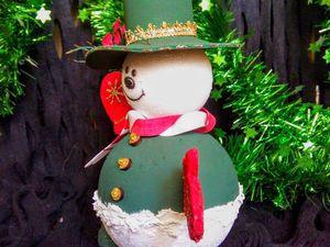 Забавный снеговик | Ярмарка Мастеров - ручная работа, handmade