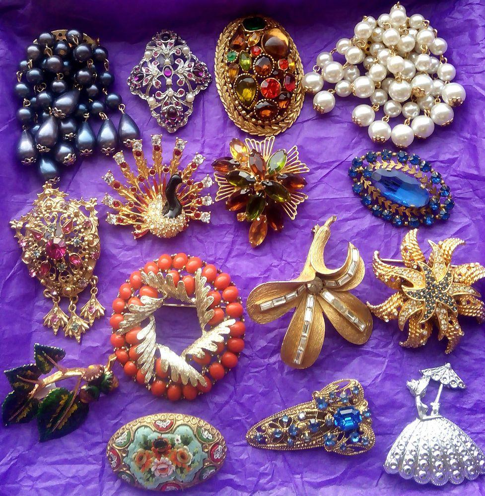 броши, украшения с камнями
