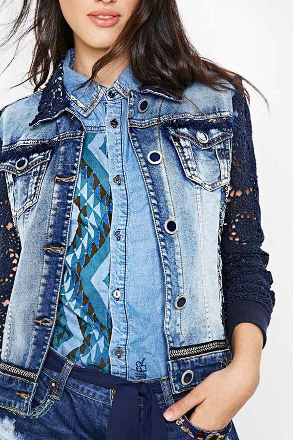 Многообразный декор джинсовых курток: 50 интересных вариантов, фото № 44