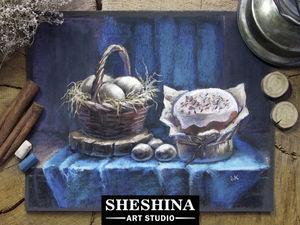 Видеоурок: рисуем пасхальный натюрморт сухой пастелью. Ярмарка Мастеров - ручная работа, handmade.