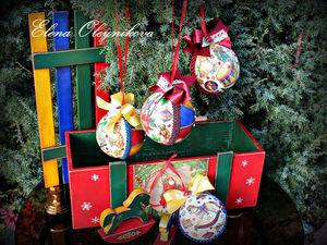 Набор новогодних игрушек Детство. Ярмарка Мастеров - ручная работа, handmade.
