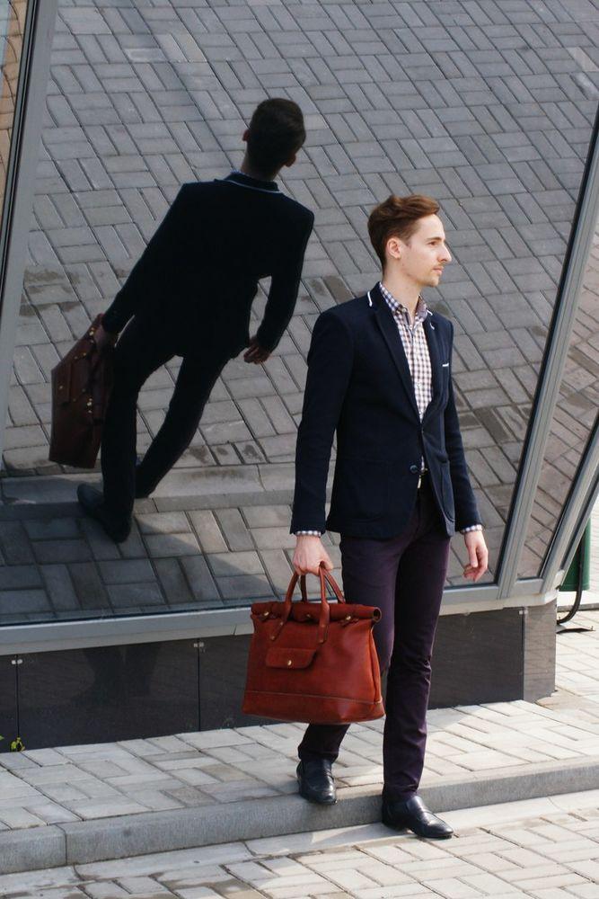 сумка кожаная мужская, сумка дорожная, сумка рыжая кожаная, genuine leather, handcrafted leather bag