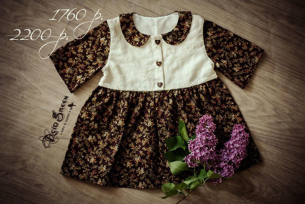 платье с бантиками, платье из льна, дизайнерское платье
