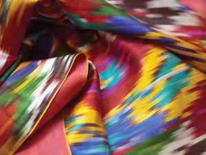 Шелк — ткань, покорившая мир. Часть 2. Икат. Ярмарка Мастеров - ручная работа, handmade.