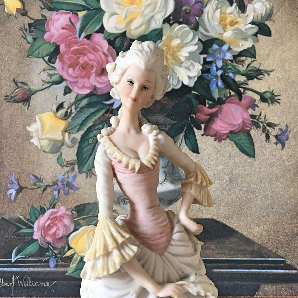 статуэтка capodimonte, бисквитный фарфор