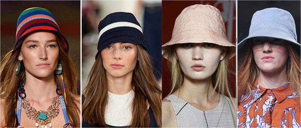 шапки весна 2017, шляпы с узкими полями