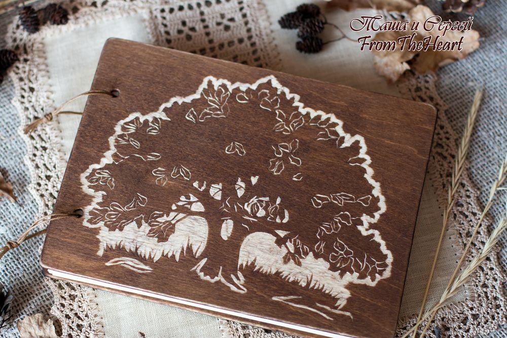 деревянная книга, рустик