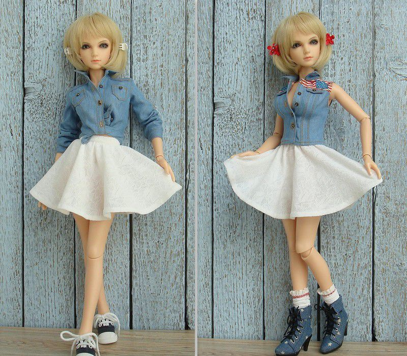 одежда для кукол бжд, повседневная одежда