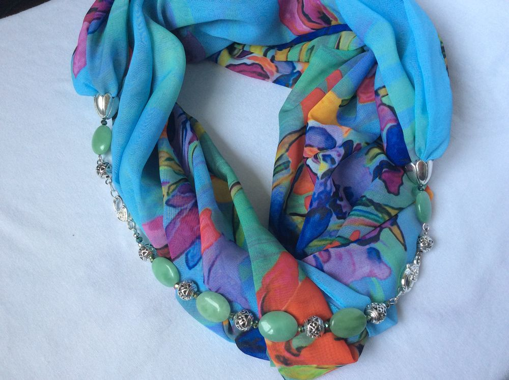 шарф с браслетом