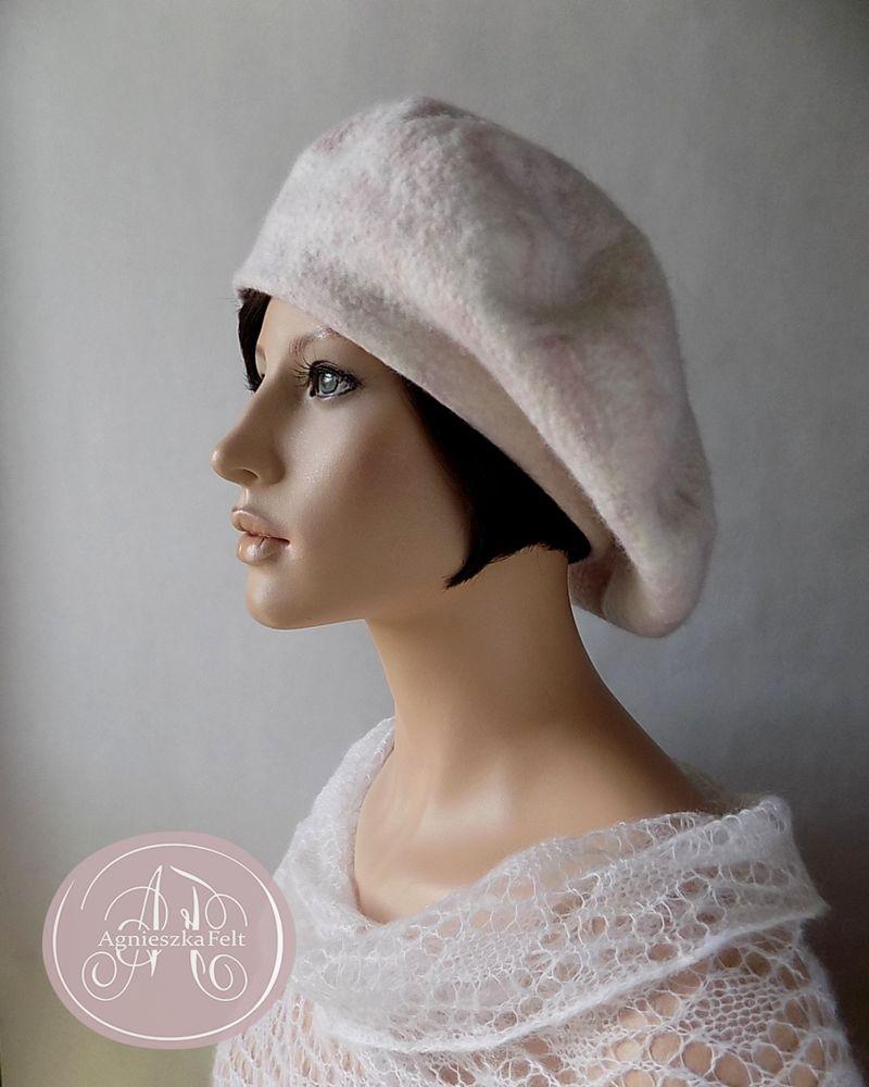 мастер-класс по валянию, шляпка с вуалью
