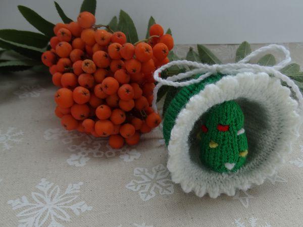 Вяжем новогоднюю игрушку «Полусфера» с елочкой | Ярмарка Мастеров - ручная работа, handmade