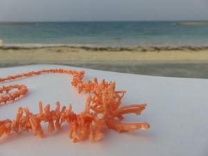 Фото ожерелья из натурального коралла, Окинава, япония. Ярмарка Мастеров - ручная работа, handmade.