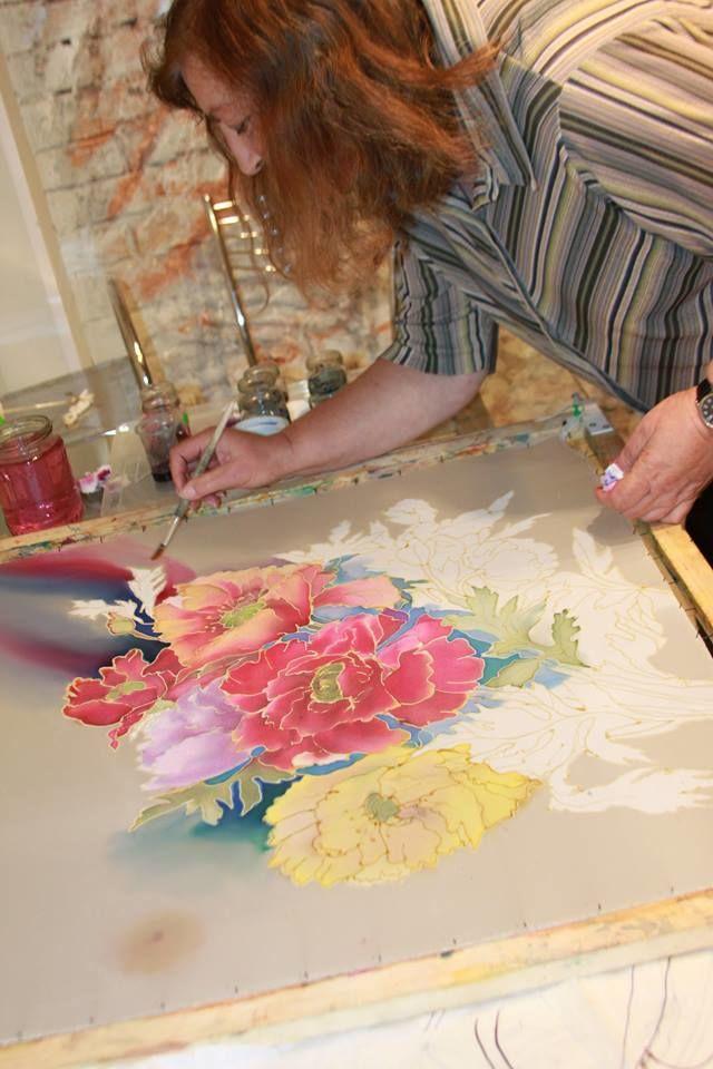 Мастер класс по росписи по ткани