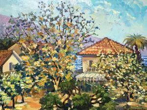 15% скидка — картина маслом «Осень в Черногории». Ярмарка Мастеров - ручная работа, handmade.