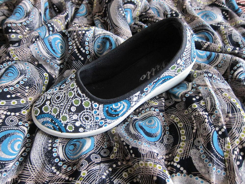 роспись обуви, точечная роспись