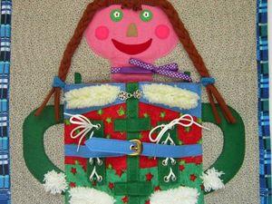 Новая работа Застежки-одежки веселой куклы. Ярмарка Мастеров - ручная работа, handmade.
