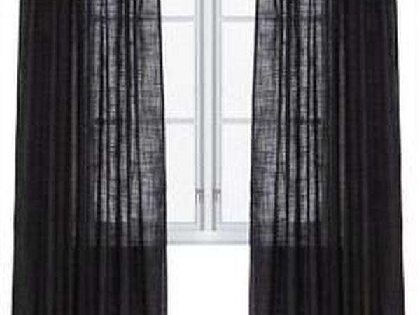 Черные шторы | Ярмарка Мастеров - ручная работа, handmade