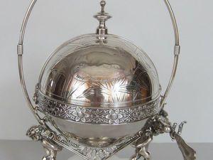 Антикварный сервер, серебрение. | Ярмарка Мастеров - ручная работа, handmade