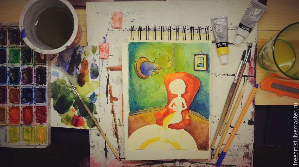 акварель, видео-урок, живопись