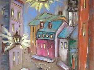 ГРАФИКА, ночной город, формат А4, художник А. Шуберт. Ярмарка Мастеров - ручная работа, handmade.