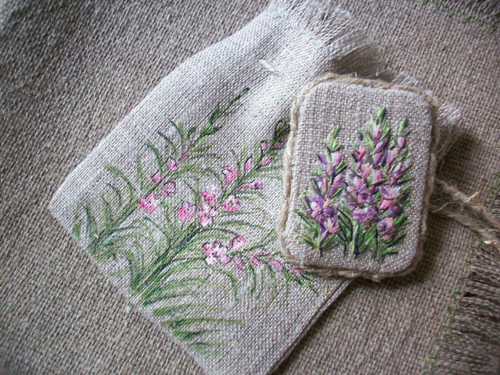 мешочки для упаковки, летние цветы