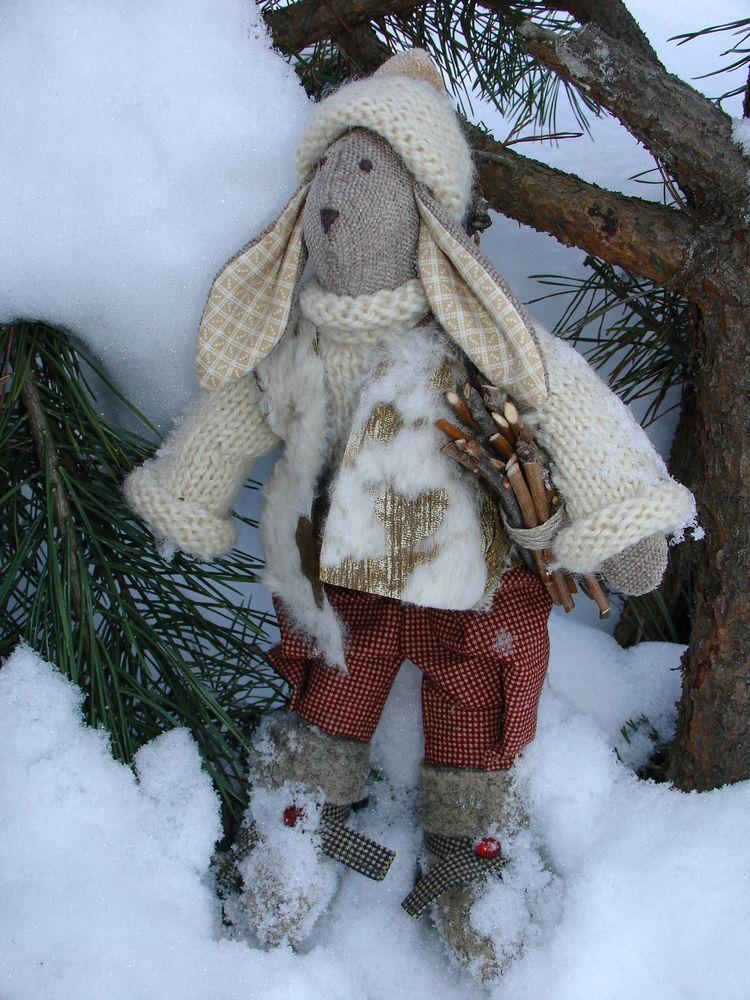 сказка, сказка про зайцев, авторская кукла