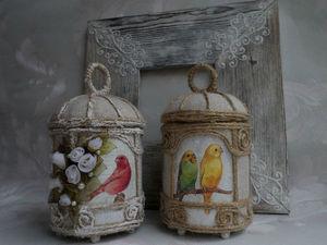 Мастерим стильную шкатулку-игольницу «Клетка с птичками». Ярмарка Мастеров - ручная работа, handmade.