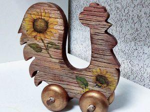 «КРОЛИК»  или другая игрушка  в стиле «рустик», различные методы состаривания дерева, браширование | Ярмарка Мастеров - ручная работа, handmade