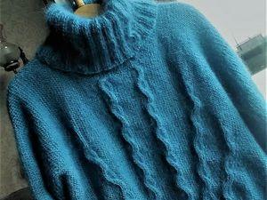 Новая модель-свитер из мохера. Ярмарка Мастеров - ручная работа, handmade.