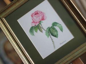 Рисуем цветы. Техника - акварель. | Ярмарка Мастеров - ручная работа, handmade