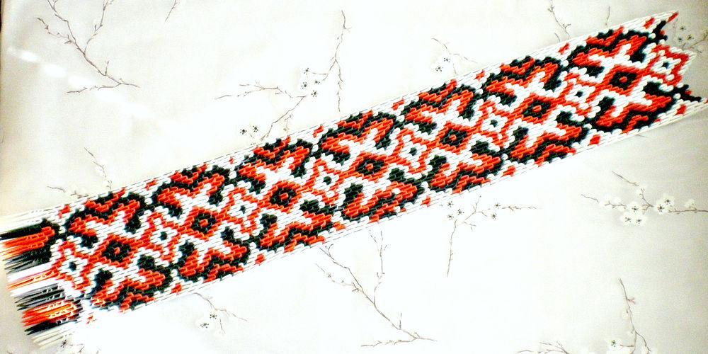 схема оригами, красный