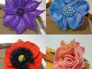 Мастер-класс по валянию цветов | Ярмарка Мастеров - ручная работа, handmade