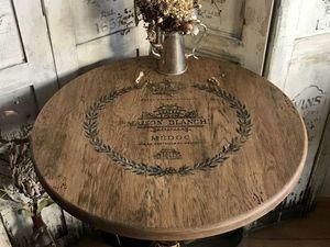 Декорируем столик с помощью трафарета. Ярмарка Мастеров - ручная работа, handmade.