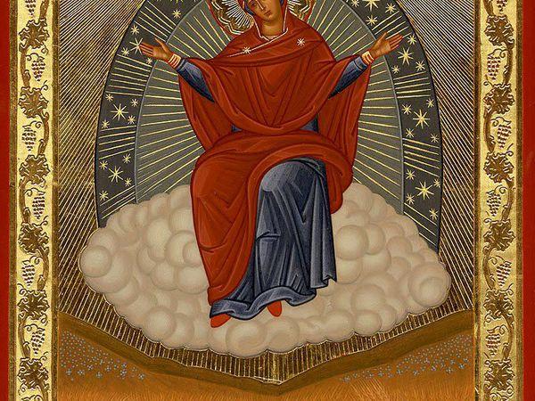 Чтобы дома всегда было сытно,надо молиться перед иконой Божией Матери ,,Спорительница Хлебов,, а на кухне каждой хозяйке иметь эту удивительную икону   Ярмарка Мастеров - ручная работа, handmade