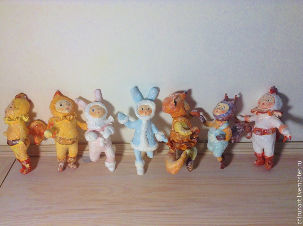 Ватные елочные игрушки из далекого детства