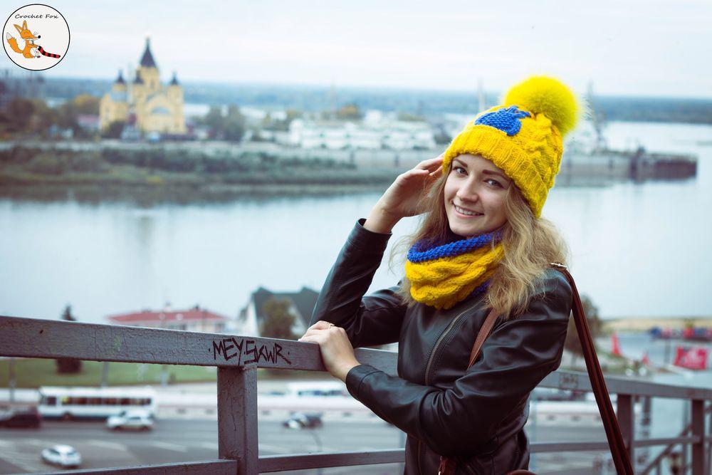 шапка вязаная, тёплые вещи