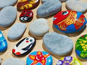 Камни с рисунками превратились за год в лучший сувенир и межконтинентальный тренд. Ярмарка Мастеров - ручная работа, handmade.