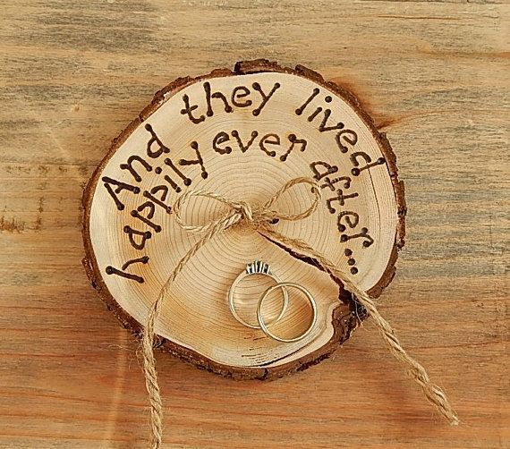 RUSTIC ring bearer pillow  Romantic country Wedding decoration.: