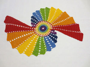Новая Салфетка Чудесная Радуга | Ярмарка Мастеров - ручная работа, handmade