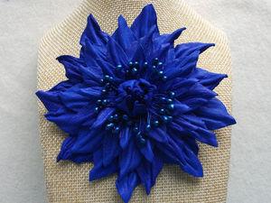 Делаем яркий махровый цветок из кожи. Ярмарка Мастеров - ручная работа, handmade.